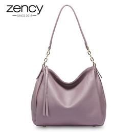 $enCountryForm.capitalKeyWord Australia - Zency 100% Genuine Leather Fashion Women Shoulder Bag Black Hobos Handbag Lady Messenger Crossbody Purse Quality Guarantee #164894