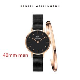 c3a9af57db30 top luxury brand dw bracelet Daniel women men Wellington s watch fashion  stainless steel strap style 40 32mm rose gold mens watches with gif