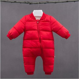 jumpsuit babies Australia - good qulaity newborn boy girl rompers toddler 2018 new winter long sleeve cotton jumpusit baby Warm thick jumpsuit outdoor clothes