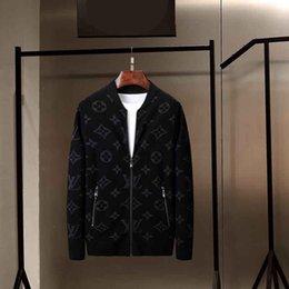Vente en gros NEW Mens designer pull mode hip hop style col haut revers femmes 100% pull en laine de luxe Coton Casual Manteau