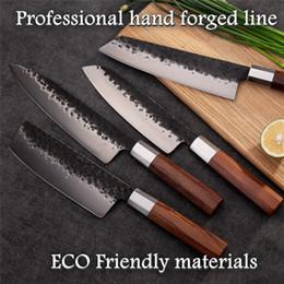 $enCountryForm.capitalKeyWord Australia - 4 Pcs Professional Handmade Kitchen Knives High-carbon Steel Chef Santoku Nakiri Kiritsuke Knives Cooking Tools Gift Box Grandsharp
