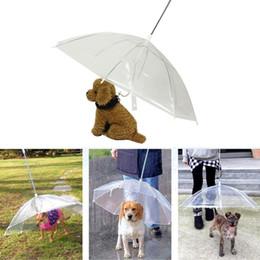Transparent PE Pet Umbrella Small Dog Puppy Umbrella Rain Gear with Dog Leads Keeps Pet Dry Comfortable in Rain Snowing on Sale