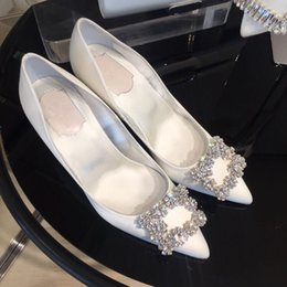$enCountryForm.capitalKeyWord Australia - 1Sharp High-heeled Shoes Fine With Small Code 313233 Red Wedding Shoes Bridesmaid Bride Shoe Silks And Satins White Wedding Dress Shoe