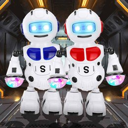 $enCountryForm.capitalKeyWord NZ - Dancing Astronaut Smart Robot Electric Walking Music Light Toy Battery Powered Colorful LED Arm-swing Fun Boys Birthday Gift