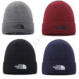 mens crochet hats NZ - Winter Warm Skull Cap Mens Women Designer Knitted Fleece Hats The North Ski Caps Unisex Solid Color Beanie Hat Face Headgear Hot Sale C92503