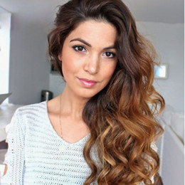 Brazilian two tone full lace wigs online shopping - Ombre Human Hair Lace Front Wigs Ombre Color Brazilian Remy Two Tone Hair Full Lace Wig with Baby Hair Middle Part