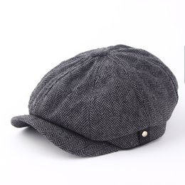 Fashion Gentleman Octagonal Cap Newsboy Beret Hat Autumn And Winter For Men's Jason Statham Male Models Flat Caps