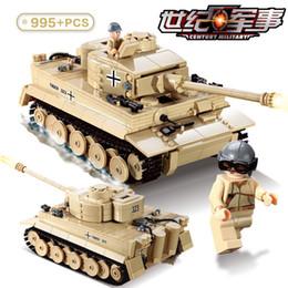 China Kazi KY82011 WW2 995pcs Century Military 3D Germany King Tiger 323 Tank Model Building Blocks Bricks Military Toy For Boy cheap kazi brick toys suppliers