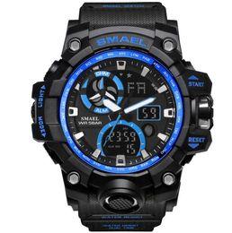 $enCountryForm.capitalKeyWord Australia - 2019 New best seller SMAEL Smyr New Watch Outdoor Sports Army Watch Waterproof Dual Display Nightlight Multifunctional Men's Electronic Wat