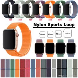 $enCountryForm.capitalKeyWord Australia - For Apple Watch Band 40mm 44mm Nylon Soft Breathable Sport Loop Adjustable Closure Wrist Strap for iWatch Series 4 3 2 1