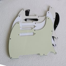 Black Guitar Screws Australia - New DIY retro front cover ele guitar shield 8 nail ancient white TL panel with screws