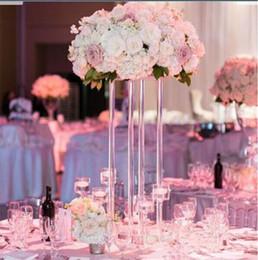 $enCountryForm.capitalKeyWord Australia - new style clear Wedding Metal Gold Color Flower Vase Column Stand for Wedding Centerpiece Decoration 10 pcs lots