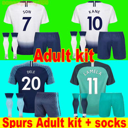 2a28c629a Thailand KANE soccer jersey Adult kit sets 2019 LAMELA ERIKSEN DELE SON  SPURS jerseys 18 19 football shirt uniforms CAMISETAS away third