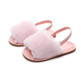 $enCountryForm.capitalKeyWord Australia - Summer Soft hair style Classic Baby Girl Breathable Baby Fur Shoes Simple Elastic Sandals
