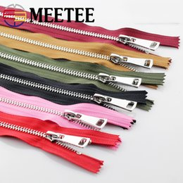 $enCountryForm.capitalKeyWord Australia - Meetee 20cm 5# Metal Zippers Close-End Zip Auto Lock for Sewing Bag Garment Tailor Crafts Material