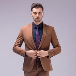 Shiny Beige Suit Australia - New Fashion Men Suit Shiny Wedding Groom Suits For Men Brand tuxedo 2 Piece Multi-color Slim Fit Business Suit Formal Men Suits