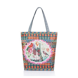 Large Canvas Prints Cheap Australia - good quality Canvas Design Tower And Floral Printed Shoulder Bag Women Cheap Shopping Bag Women Large Capacity Tote Handbag Lady