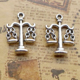 Balance Charms Australia - 100pcs Exquisite Balance Popular in Europe America charms pendants 20*15mm Antique silver Handmade bag accessories craft Jewelry