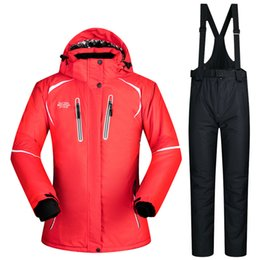 cream suits Canada - New Winter Ski Suit Women Sets Windproof Breathable Waterproof Women Snow Jacket and Pants Warm Clothes Set Snowboard Suits