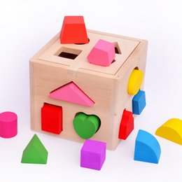 $enCountryForm.capitalKeyWord Australia - Baby toys 13 chunky shapes Shape Sorting Cube Educational Wooden Geometric Building blocks Sturdy wooden construction kids gift