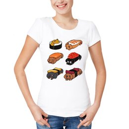 T i sTyle cloThing online shopping - Kawaii t shirts Cool I Love My dog New fashion Style brand Clothing Sushi Daschunds Crew Neck Casual Womens T Shirts Gifts