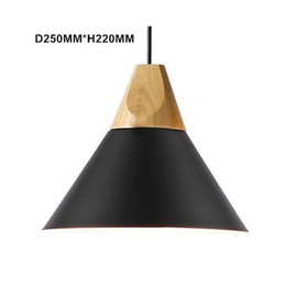 Lighted Shades Australia - Nordic Modern Wood Pendant Lights Colorful Aluminum lamp shade Luminaire Dining Room Lights Pendant Lamp For Home Lighting