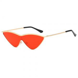ad4bdbc5b1 Sexy eye lenS online shopping - Triangular Metal Frame Cat Eye Sunglasses  Pink Shades Vintage Sexy