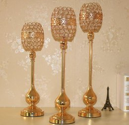 $enCountryForm.capitalKeyWord Australia - crystal candlestick candle holder flower vase crystal Crafts home decoration wedding table centerpieces wedding road lead party table props