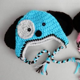 $enCountryForm.capitalKeyWord Australia - Cute Baby Blue Puppy Hat,Handmade Knit Crochet Baby Girl Boy Dog Animal Hat,Winter Earflap Cap,Infant Toddler Photo Prop Shower Gift