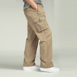 $enCountryForm.capitalKeyWord NZ - 2018 NEW MEN'S PANT LARGE SIZE Big 4xl 5xl 6xl Plus Casual Men Elastic Waist Multi Pocket Male Long Baggy Straight Trousers