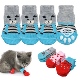 shoes for female dogs NZ - Cute Small Dog Shoes Cotton No-Slip Chihuahua Dog Shoes Hot Dog Doggie Sock for Small Dogs Puppy Pet calcetines perro