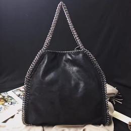 Falabella Chain Bag Canada - DHL falabella fold over shaggy deer tote bags women Stella pvc 3 chain shoulder bags 35x36x10cm Mccartney big shopping fashion chains 2 bags