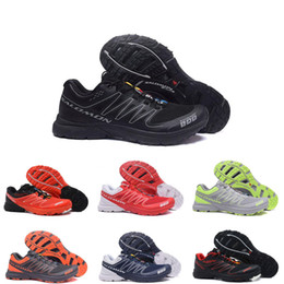 Discount cross running shoes - Hot Sale Men sneakers Speed cross CS S-Lab Running shoes Black red blue Outdoor SpeedCross lab Hiking mens sports sneake