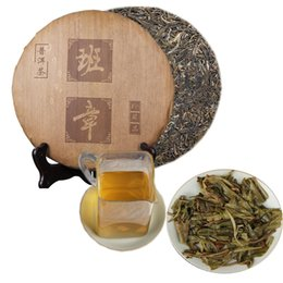 green tea cakes UK - 357g Raw Pu Er Tea Yunnan BanZhang Pu er Tea Organic Pu'er Green Puer Oldest Tree Natural Puerh Tea Cake Bamboo leaf packaging