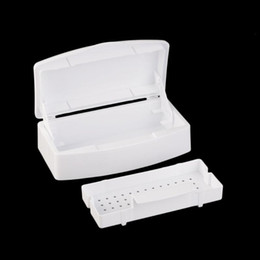 nail art tray Canada - 5Pcs Nail Tools New Pro Nail Tray Disinfection Pedicure Manicure Box Art Tray Box SalonTools