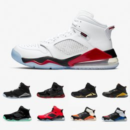 fire sneakers 2020 - Fire Red Top MARS Man cool Basketball Shoes PSG Shattered Backboard Black Metallic Grey Green Glow DMP Citrus Mens Sport