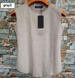 $enCountryForm.capitalKeyWord Australia - Womens Designer Vest T shirts 2019 Womens Brand Sleeveless Shirts Sexy Print Letters with Buttons Tanks Women Luxury Tops 19 Styles.T00