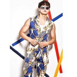 Men Leopard Print Pants NZ - (jacket+pants) Male Leopard Print Waistcoat Suit Blouse Men Singer Dancer Show DS Dance Costumes Outerwear Coat DJ Jazz Nightclub Performanc