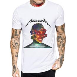 $enCountryForm.capitalKeyWord Australia - New Arrivals Tshirt Men Short Sleeve O Neck T-Shirt Metallica Printed Tops High Quality Mens Cotton Tees Camisetas Hombre Verano