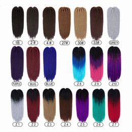 hair braid styles NZ - 2X Pretwist Havana Mambo Twist Crochet Braid Hair 22inch 12stands Ombre Braiding Hair Extension Jumbo Styles High Temperature Fiber