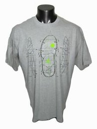 Wholesale 2005 Men Air Men RETRO SOUL OF SOLE BLUEPRINT T Shirt SZ XL Graphite