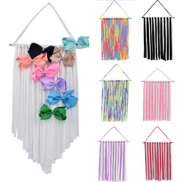 Girls hair belt online shopping - Baby Hair Bow Holder Hanger Girls Hairs Clips Storage Organizer Hairwear Belt Kids Tapestries Hair Accessories HH9