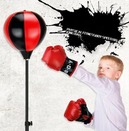 $enCountryForm.capitalKeyWord Australia - Inflatable vent ball foreign trade sports boxing set decompression toy Children boxing indoor and outdoor speed boxing ball
