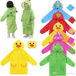 $enCountryForm.capitalKeyWord Australia - Cute Cartoon Lovely Kids Raincoats Girls Boys Rainwear Waterproof Outdoor Rain Gear Children Poncho Style Rain Coat Travel