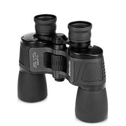 Angle Telescopes Australia - Beileshi Binocular 10X50 HD Vision Wide-angle Prism Folding Binocular Outdoor Professional Hunting Telescope for Travel Concert