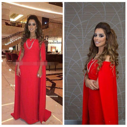 39508dca14 Cheap Arabic India 2019 Formal Bateau Evening Dresses With Wrap Satin Pure  Red Prom Party Dress Backless Sexy Celebrity Gowns Plus Size