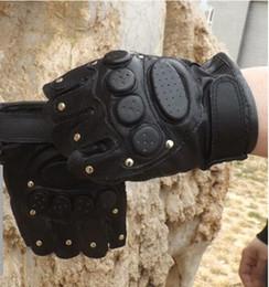 $enCountryForm.capitalKeyWord Australia - Women original fashion brand gloves warm Training army Sexy Half finger Tactical outdoor leather rivet half finger sports gloves