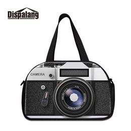 Multi Camera Bags Australia - New Arrival Designer Printed Camera Photo Colorful and Messy Background Large Capacity Duffle Bag Vintage Outdoor Sports Duffel