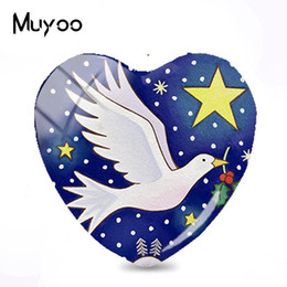 $enCountryForm.capitalKeyWord Australia - 2019 New Christmas Glass Cabochon Dove Of Peace Glass Dome Cabochons Art Photo Jewelry Hand Craft For Gifts
