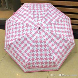 Cotton sun umbrella online shopping - high quality bussiness Audi genuine leather handle brand sun rain Umbrella Fold Anti UV French royal Umbrellas DZX